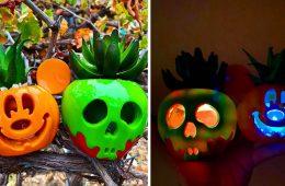 Disney Halloween succulents