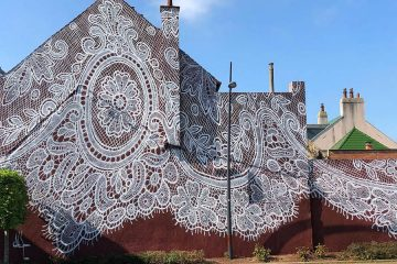 Giant lace mural