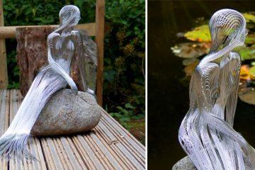 Steel wire sculptures