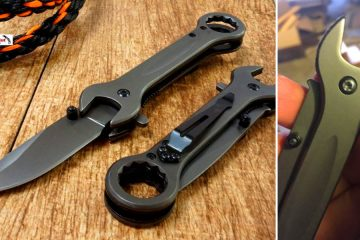 Tactical wrench knife