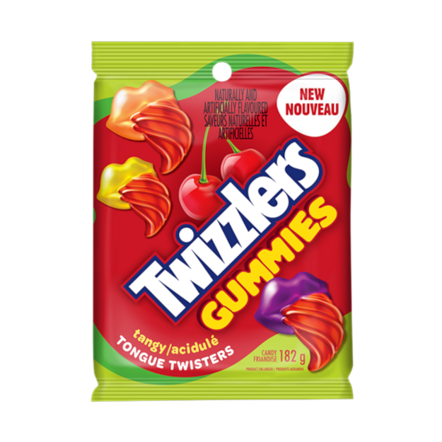 Twizzlers Gummies Tongue Twisters Tangy