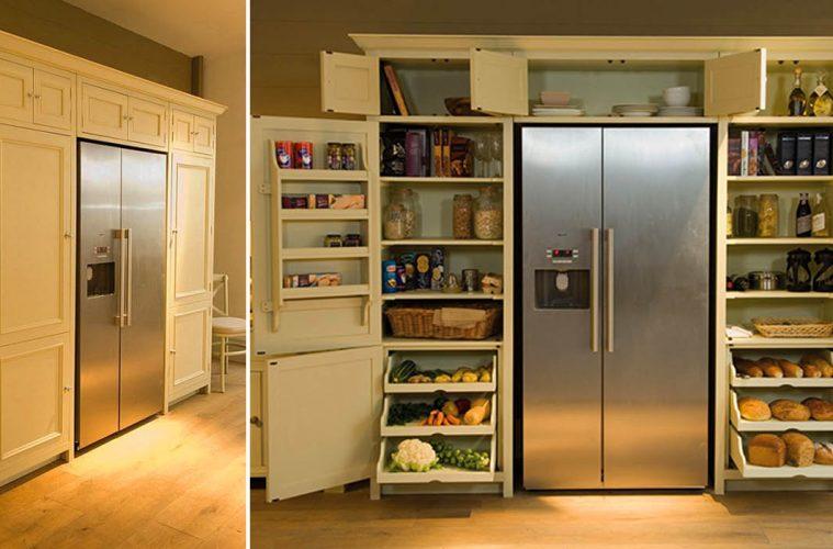 Wrap-Around Refrigerator pantry