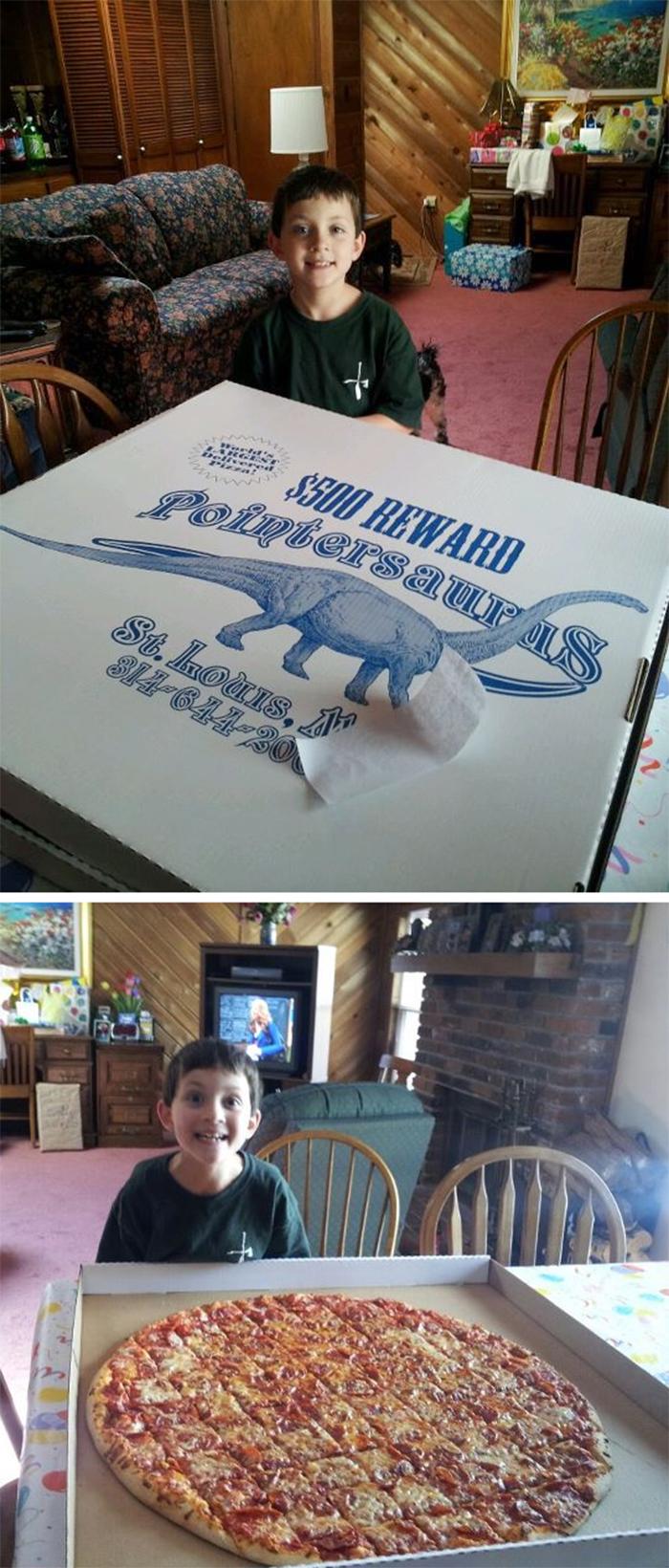boy extra large birthday pizza