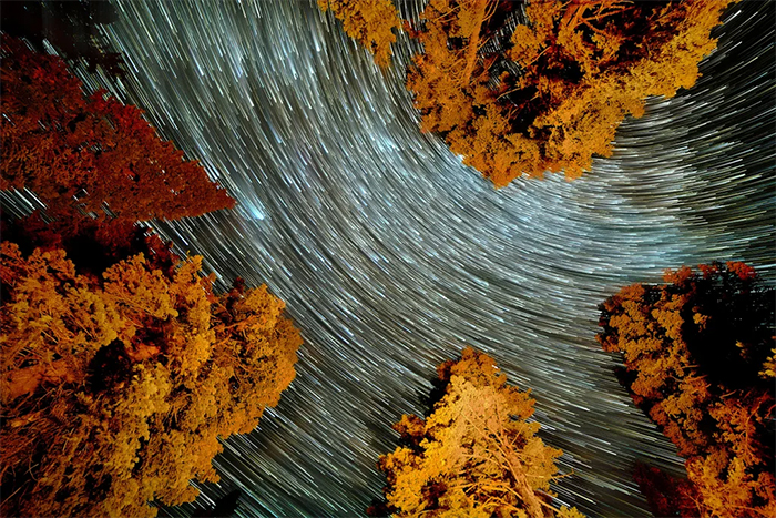 camera captures flowing river of stars