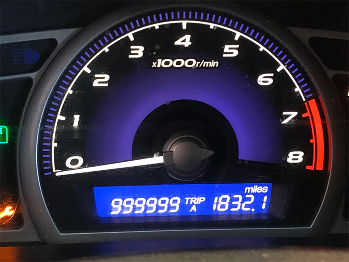 car runs one million miles in 13 years