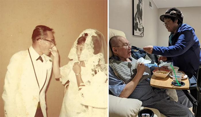 couple pic 51 years apart