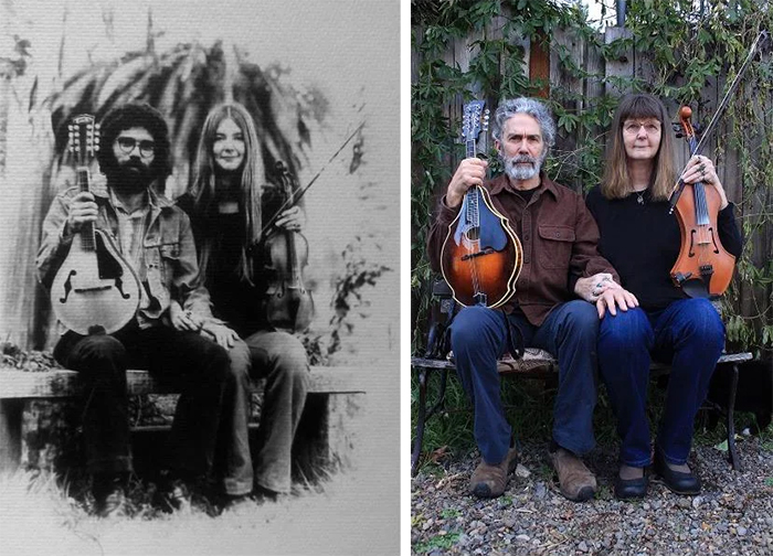 couple playing music together for 45 years