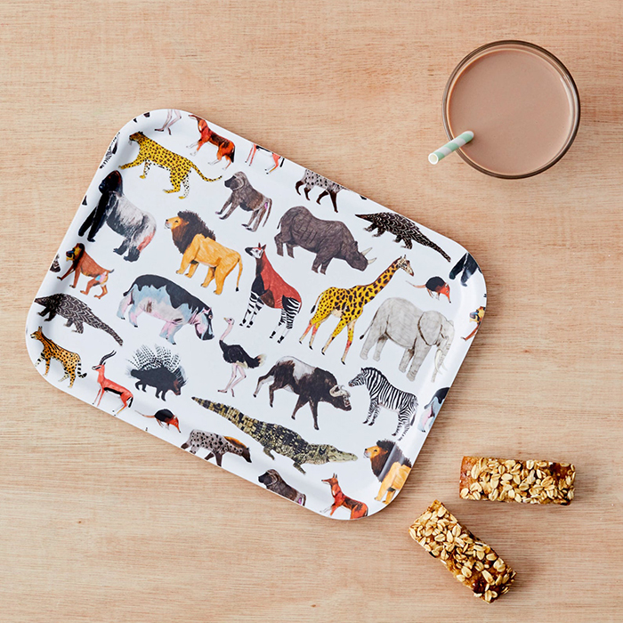 creative gift ideas animal print tray by jamesbarkerdraws