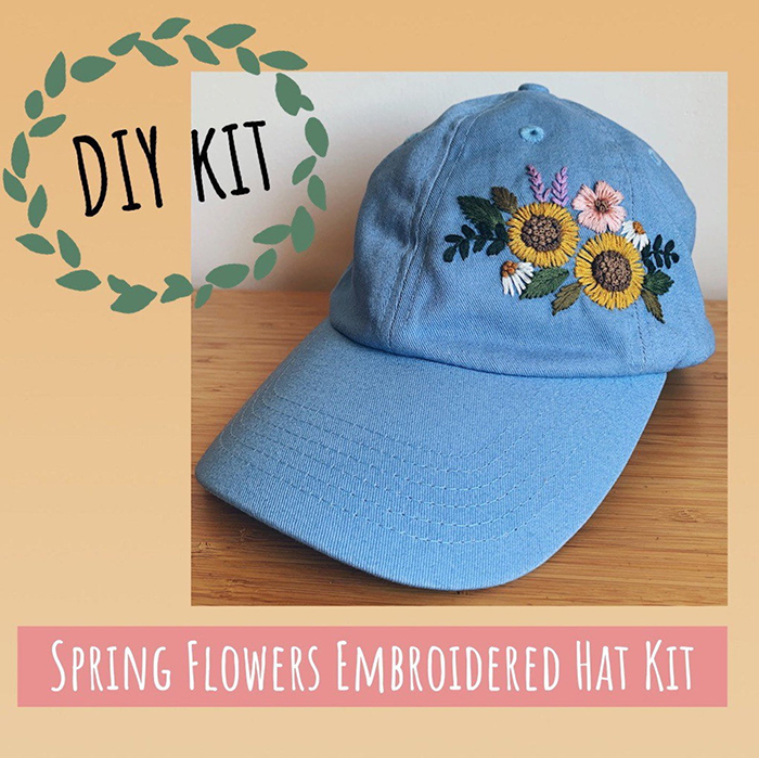 creative gift ideas diy embroidered hat kit by riverbirchthreads