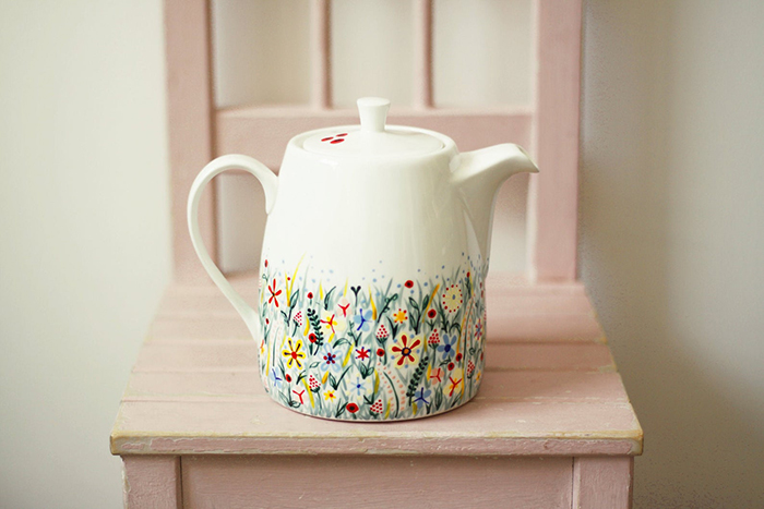 creative gift ideas hand painted ceramic teapot by roootreee