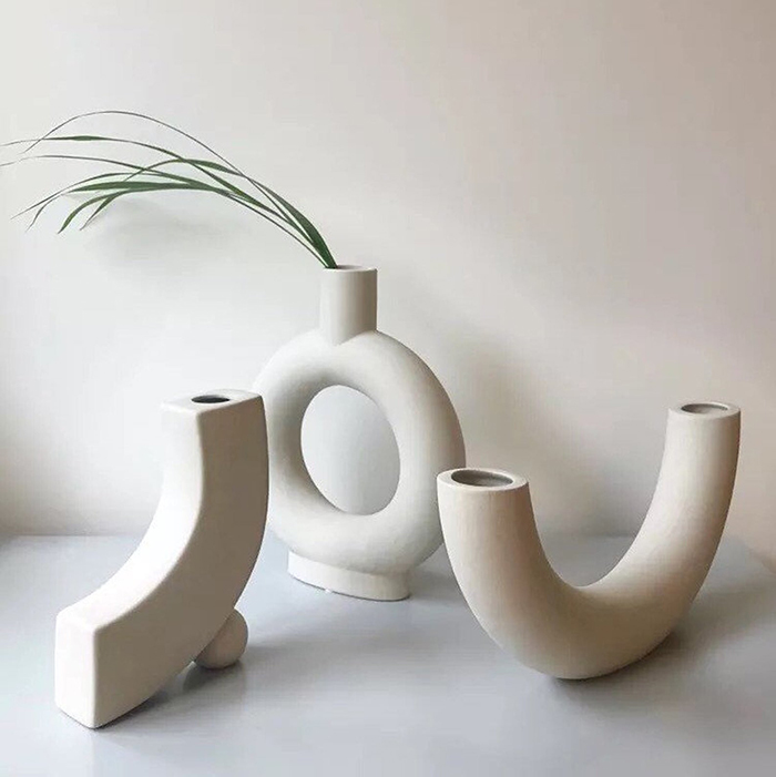 creative gift ideas off white ceramic vases by thecollectorsedit