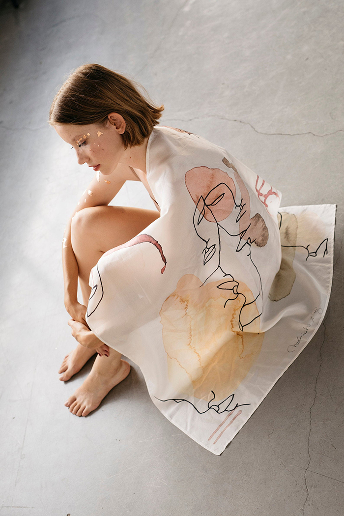 creative gift ideas silk watercolor scarf by noemiah