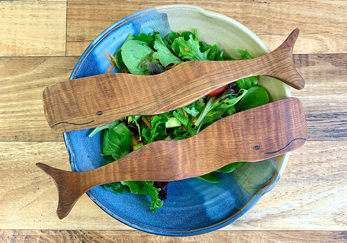 creative gift ideas whale salad servers by peiwoodenspoon