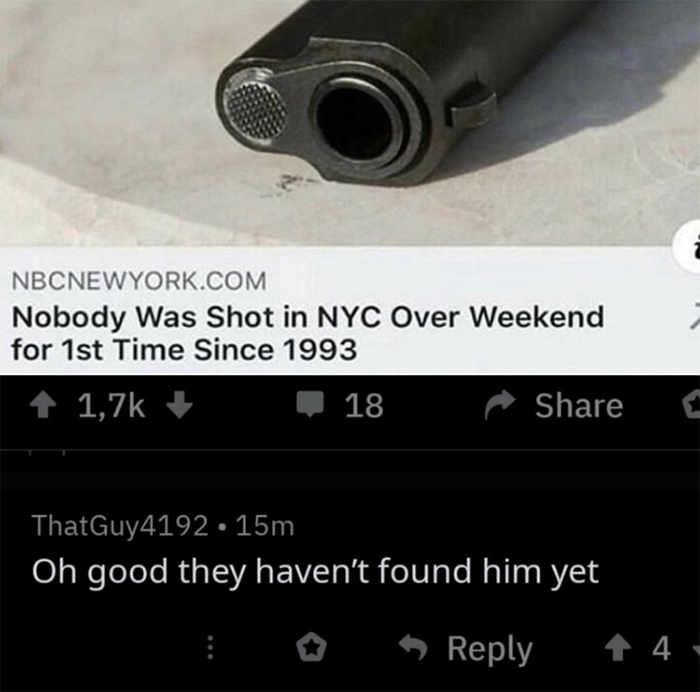 cursed comments nobody was shot in nyc