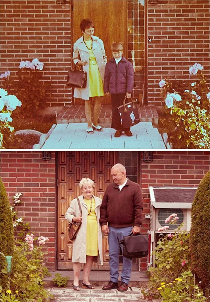 dad first day at school 50 years ago