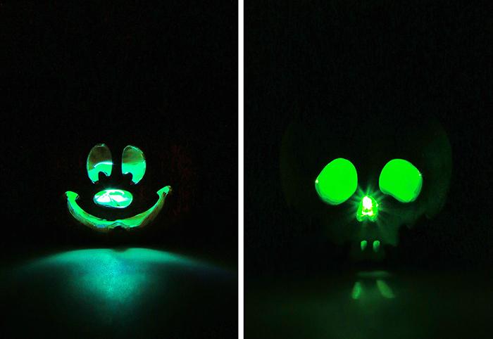 disney halloween succulents light up green