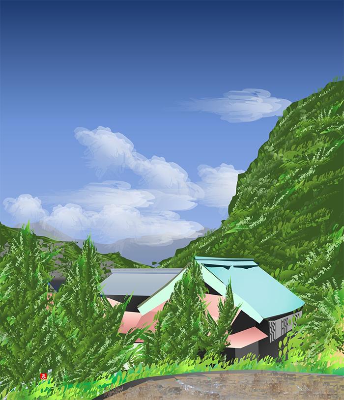 excel spreadsheet paintings landscape of ookura