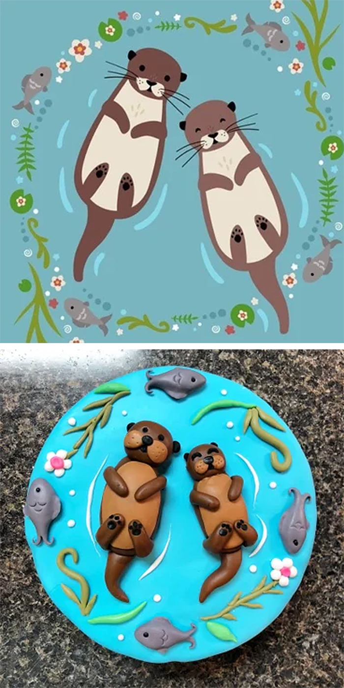 expectation vs reality mom otter cake