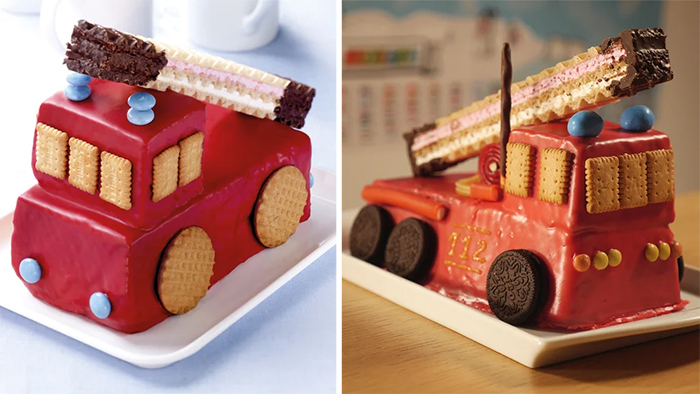 fire truck cake recreated