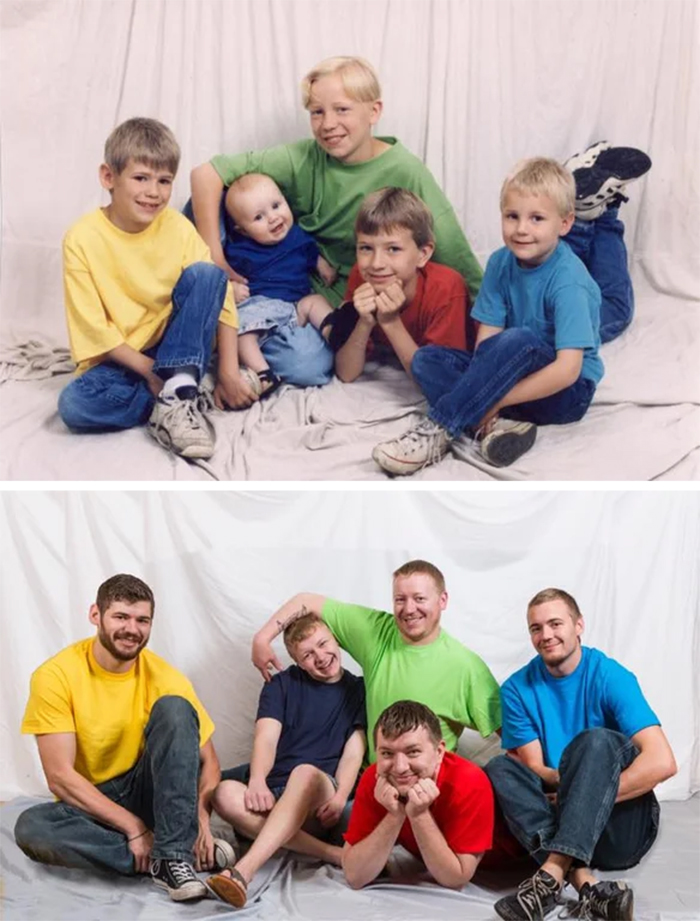 five brothers then and now