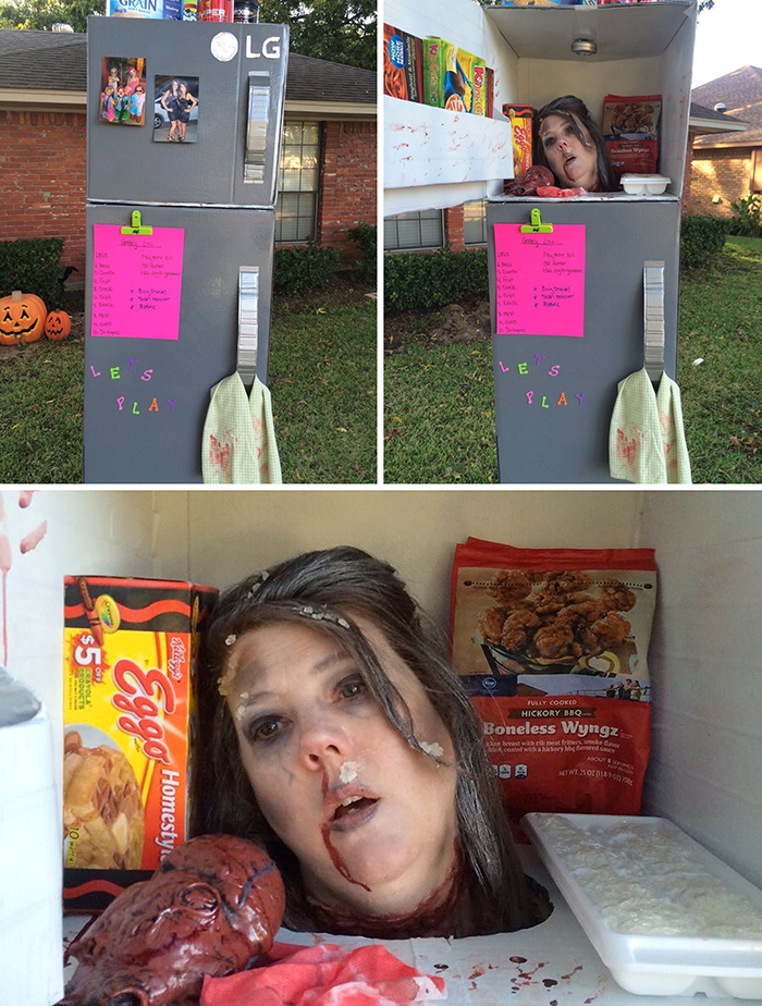funny halloween costumes severed head in the fridge