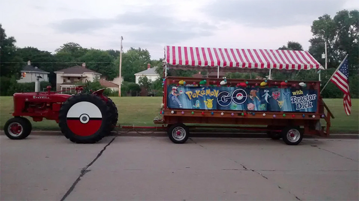 funny neighbours tractor and pokemon enthusiast