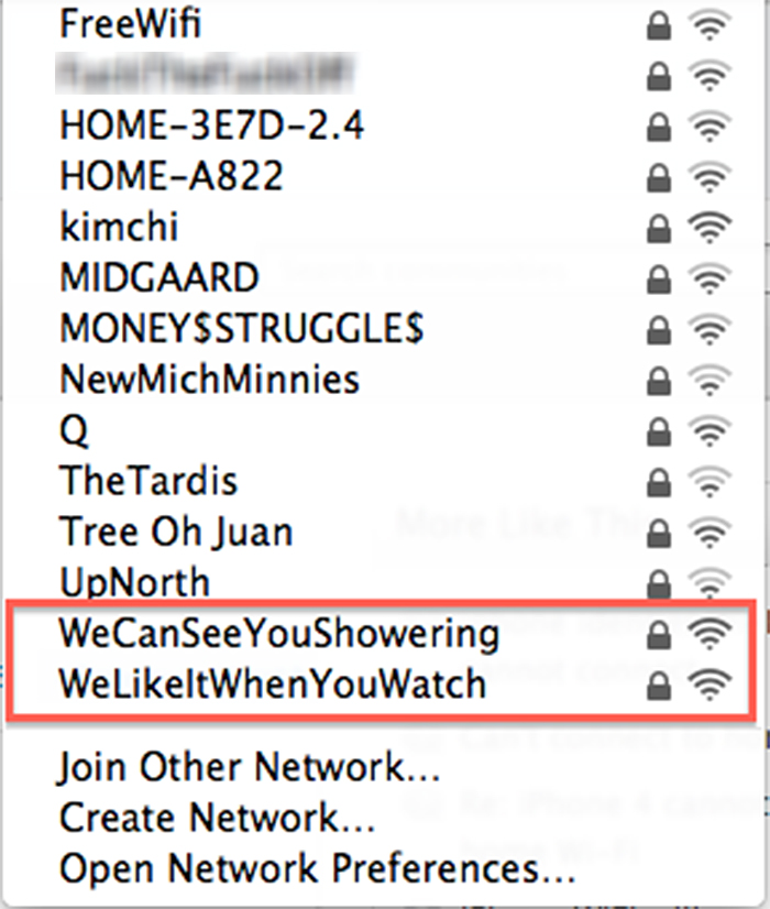 funny neighbours wifi communication