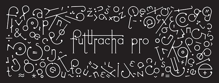 futuracha pro font on black background