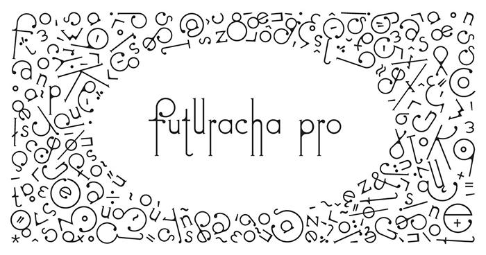 futuracha pro font on white background