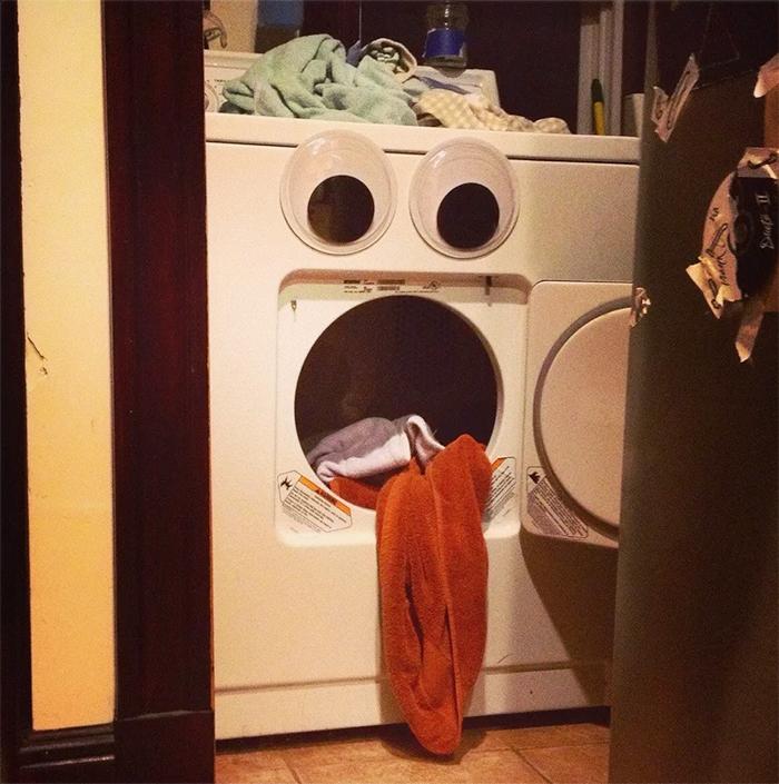 giant googly eyes washing machine
