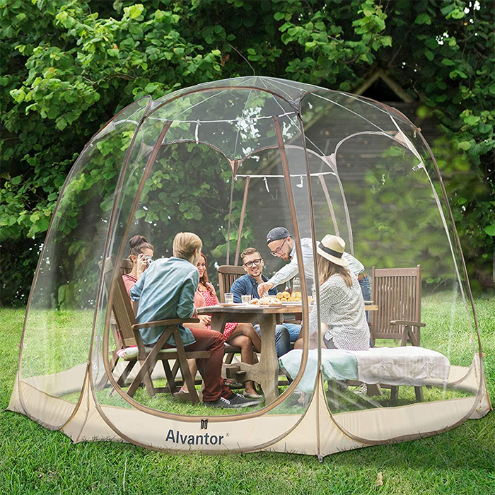 giant outdoor bubble tent