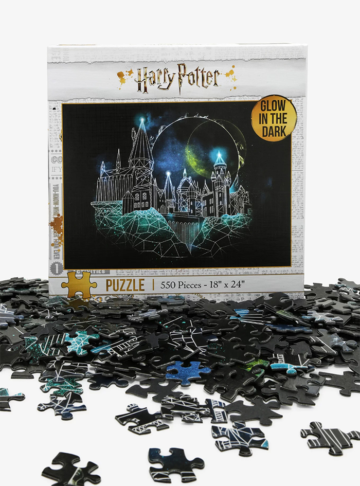 glow-in-the-dark hogwarts puzzle