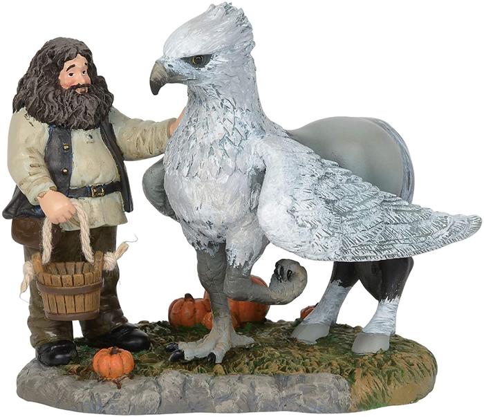 hagrid and hippogriff figurine set