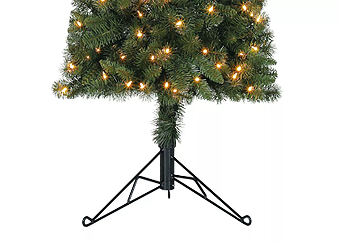 half christmas tree with stand