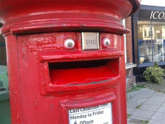 happy mail collection box
