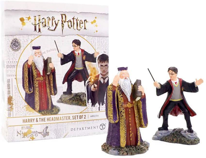 harry and dumbledore figurine set