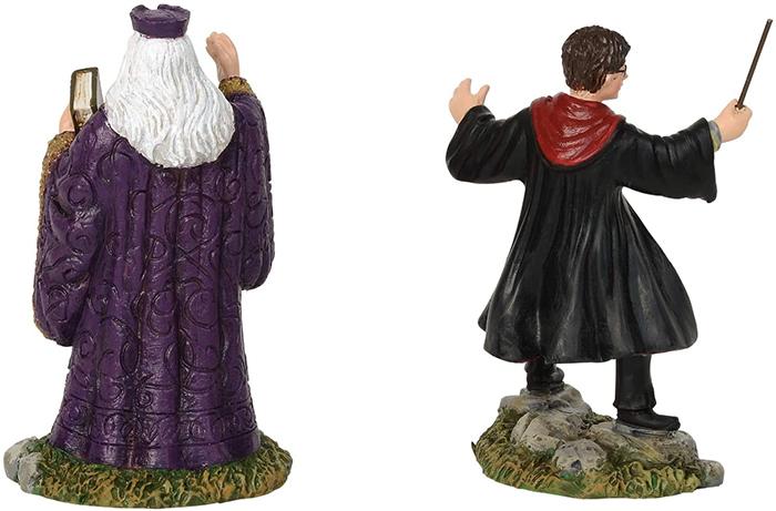 harry and hogwarts headmaster figurine set