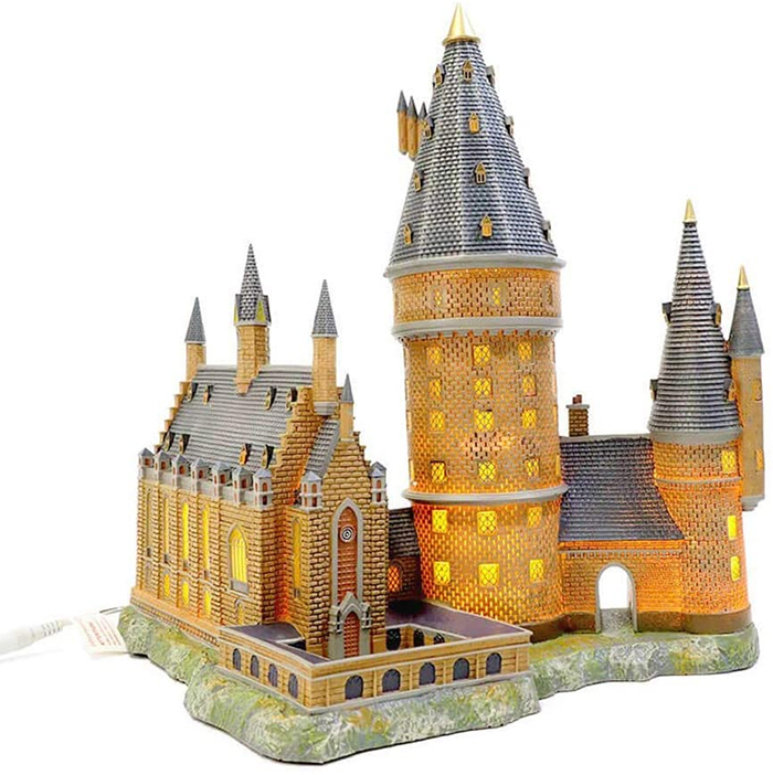 harry potter hogwarts illuminated building