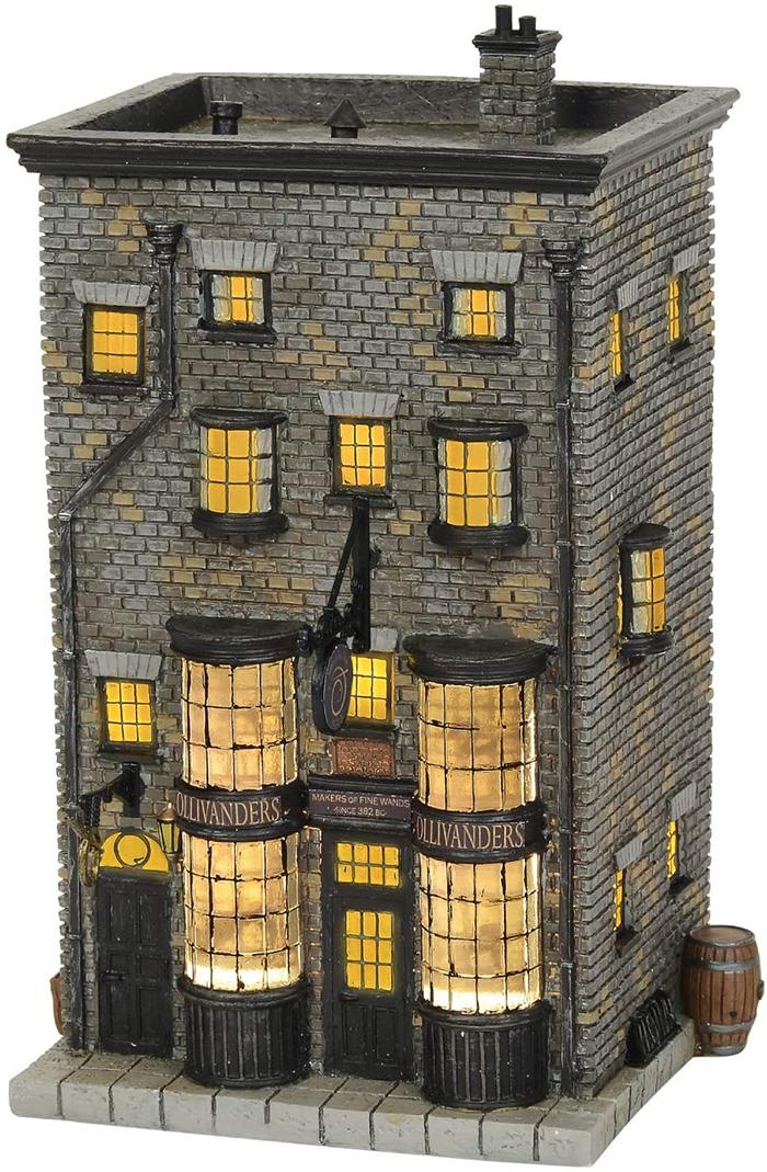 harry potter ollivander wand shop lit building