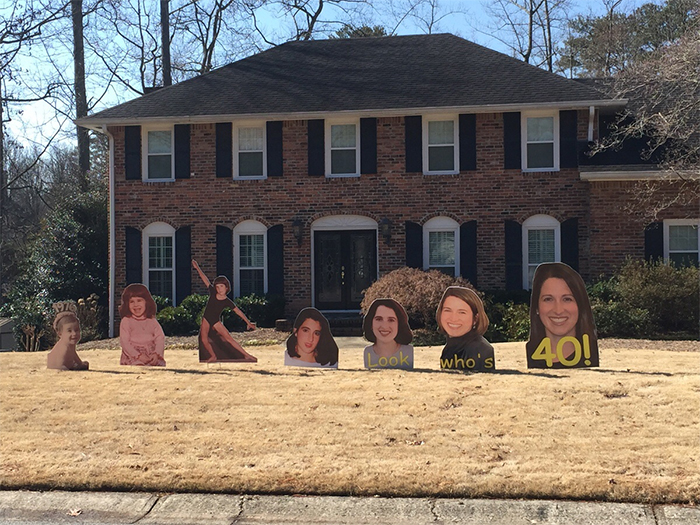 hilarious birthday posters on the yard