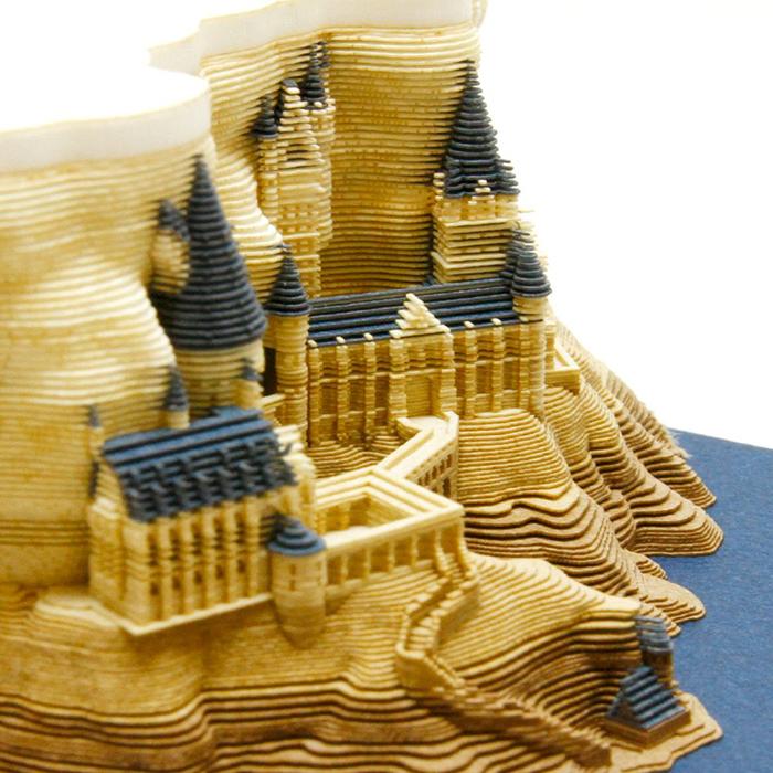 hogwarts castle memo pad