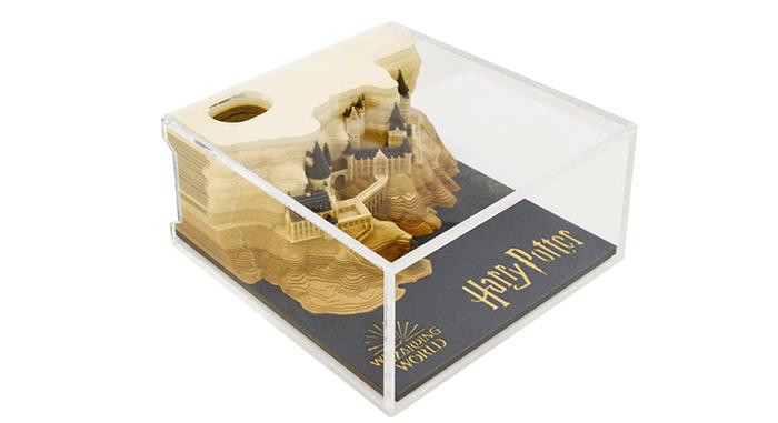 hogwarts castle paper replica in acrylic case