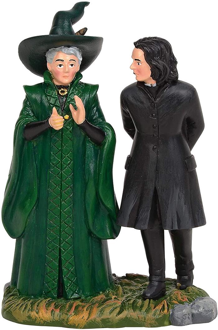 hogwarts professors mcgonagall and snape figurine set