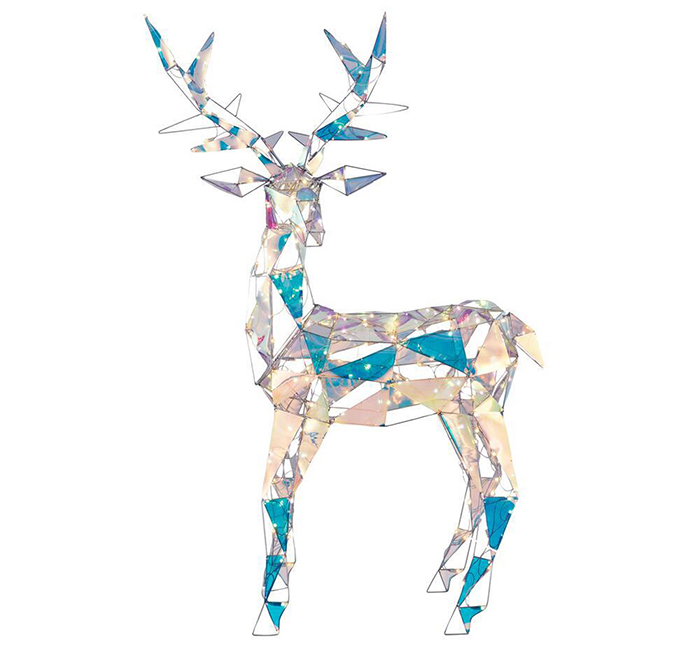 home depot sparkling modern angular iridescent reindeer decor