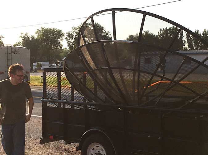 idaho couple bought a pair of 10-foot satellite dishes to build a ufo chicken coop