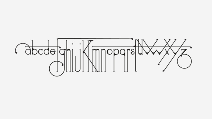 interactive font complete alphabet by holy