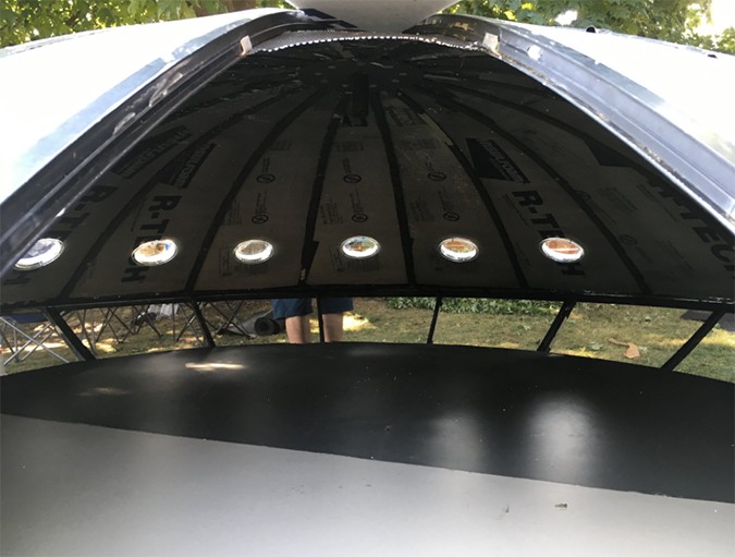interior shot of the UFO chicken coop
