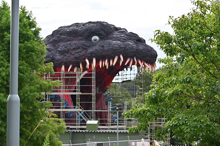 kaiju attraction at japanese-theme park under construction by riku2006