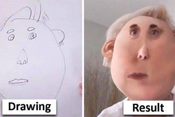 kids drawings photoshopped