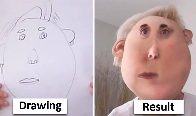 kids drawings photoshopped